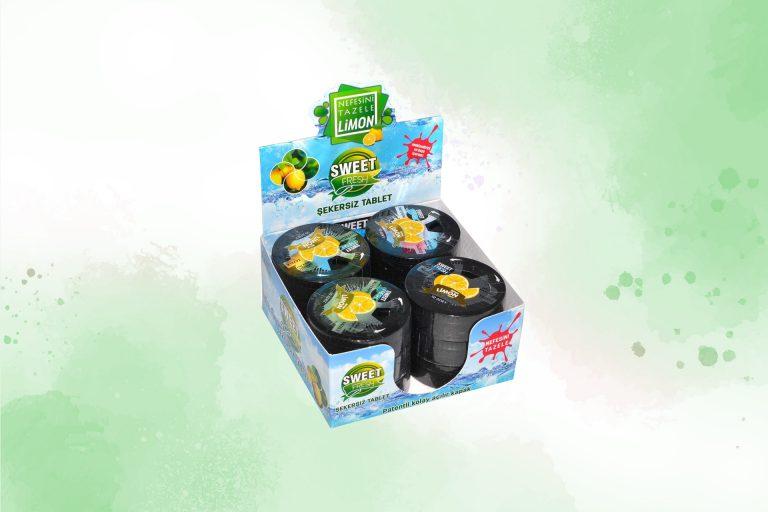 12'li Limon Aromalı Tablet Şekerleme